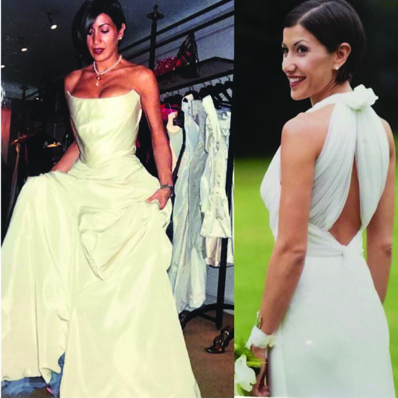 Sell the bride her perfect 'white' wedding dress…